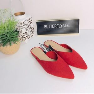 EXPRESS Pointed Toe Flat Mules